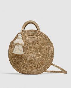 ZARA - WOMAN - ROUND RAFFIA BASKET BAG