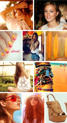 August summer mood board #fashion #beauty