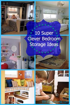 10 Super Clever Bedroom Storage Ideas