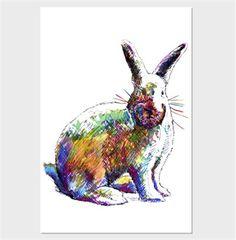 Organikçizer - illüstrasyon tavşan kanvas tablo Kendin Tasarla - Kanvas Tablo 60x90 cm Dikey