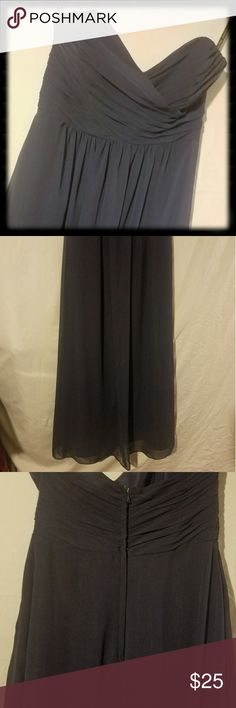 Alfred Angelo Navy Formal Maxi Dress Sz 8 Alfred Angelo Navy Blue Formal Dress Sz 8. Floor length & strapless Alfred Angelo Dresses Prom