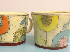 Kari Radasch click now for info. Pottery Mugs, Pottery Bowls, Ceramic Pottery, Pottery Art, Ceramic Design, Ceramic Decor, Ceramic Clay, Pottery Painting, Ceramic Painting