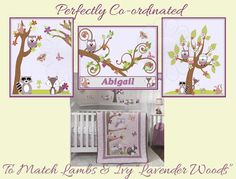 Lavender Woods by Lambs and Ivy Nursery Prints by ArtToArt on Etsy