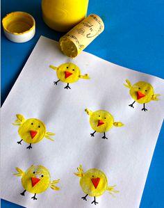 Цыпленок отпечатком пробки - Сайт для мам малышей