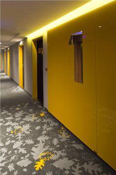 PURO Hotel — Wroclaw, Poland / Blacksheep #corridor #hallway #lighting