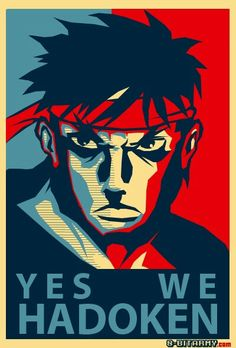 Street Fighter Ryu yes we Hadouken