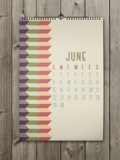 June Inspiring Calendar Design for the New Year: Shapes Calendar 2014