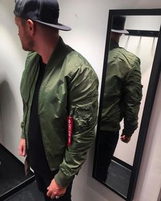 Alphaindustries bomberjacket bomberjacke alpha gayfetish