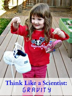 An easy science experiment to demonstrate gravity and weight and practice scientific method with preschoolers.