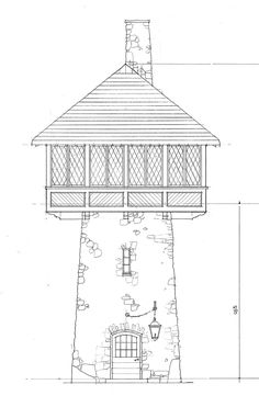 a towering achievement Cabin Plans, House Plans, Traditional Home Magazine, Lookout Tower, Guest Cabin, Rustic Stone, Tower House, Castle Rock, House And Home Magazine