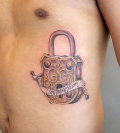 Lock tattoo, except have it as a combo dial over my heart with the date of my marriage inscribed below