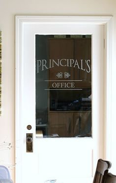 Use etched/frosted vinyl for something different on an office door