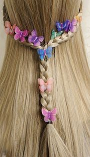 Ultra cents beautiful double chiffon Juan yarn simulation butterfly hairpin U-shaped clip comb / bride dish hair ornaments 15 shipping Gyaru Fashion, Tokyo Otaku Mode, Cute Japanese, Japanese Fashion, Hair Pins, Different Colors, Cute Dresses, Bobby Pins, Hair Makeup