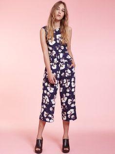 Dahlia Jasmine Floral Print Culottes | Dahlia