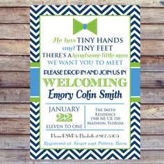 He S Here Baby Shower Meet And Greet Invitation Babies Shower