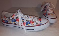 NEW CONVERSE CHUCK TAYLOR ALL STAR ANDY WARHOL CAMBELL SOUP LO SNEAKERS SIZE 10…