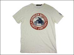 JOHNSON MOTORS ジョンソンモータース S/S Tシャツ 「ジョンソンジャンクション」ダーティーホワイト あす楽 ジョンソン・モータース T-SHIRTS