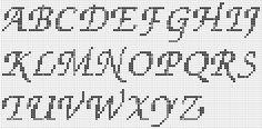 Letras en punto de cruz para imprimir.
