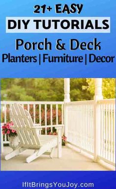 DIY project tutorials to make your porch or deck the perfect outdoor space. Simple project ideas to make unique planters, furniture, and decor. Create your dream deck where you can both relax and entertain. Diy Furniture Decor, Porch Furniture, Cool Diy Projects, Project Ideas, Diy Porch, Good Energy, Diy Woodworking, Deck, Entertaining