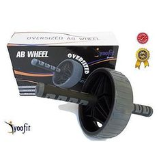 Yoofit Ab Wheel Roller Extra Wide - Perfect for 6-Pack Abs Exercise Workout New