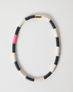 Julie Thevenot Chunky Striped Isiand Necklace | Covet + Lou