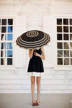 Striped umbrella. via Matchbook