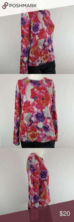 CHARTER CLUB $70 Button Front Polyester Top M Medium 8//10 Purple Polka Dot NWT