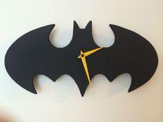 Make Super Hero CLocks using clock kits and Cardboard or foam board as base shape possibly?
