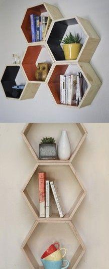 Honeycomb Shelf Set -- arrange in a myriad of different ways