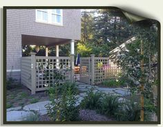 Wood garden gates and fences in Marin County