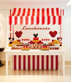 Detalhes de Festa: Lanchonete do Mickey e Minnie