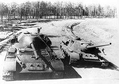 SU-101 & SU-100 Tank Destroyers photographed in 1945