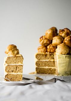 Indulge yourself on Fat Tuesday with this Salted Caramel Croquembouche Cake recipe.