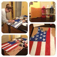 Make your own American flag shirt!