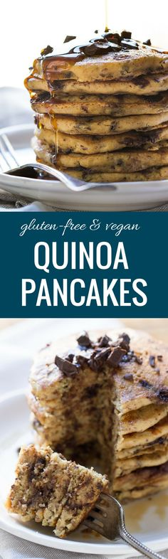 Gluten-Free + Vegan Quinoa Pancakes