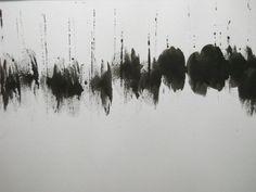 Black And White Modern Art   Art/Wall Decor - Minimal Black and White Modern Abstract Ink Painting ...