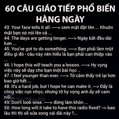 Mẫu Câu Giao Tiếp Hằng Ngày English Love, English Tips, English Study, Learn English, English Phrases, English Words, English Grammar, English Language, English To Vietnamese