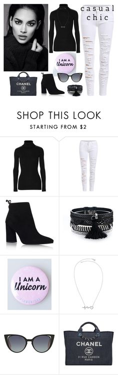"""casual chic"" by miumiu-mi-1 on Polyvore featuring Autumn Cashmere, Stuart Weitzman, Fendi and Chanel"