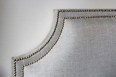 DIY upholstered headboard with nailhead trim tutorial - 7 simple steps