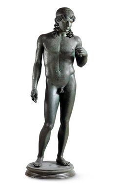 Statue of Apollo Kitharoedus, from the Casa del Citarista, Late 1st century BC. Chr., After 50. Chr. , Naples National Archaeological Museum
