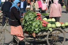 A scene from a market in Wuwei - Gansu province, China.