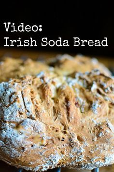 A video recipe for a classic Irish Soda Bread recipe with an optional twist. Savory Pastry, Savoury Baking, Savory Foods, Us Foods, Traditional Irish Soda Bread, Irish Soda Bread Recipe, Oven Roasted Chicken, Good Food, Yummy Food