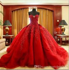 Michael Cinco Luxury Ball Gown Red Wedding Dresses Lace Top Quality Beaded Sweetheart Sweep Train Gothic Wedding Dress Civil Vestido De 2016 Michael Cinco Ball Gown Red Wedding Dresses Gothic Wedding Dress Online with $187.0/Piece on Magicdress2011's Store | DHgate.com
