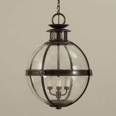 Salton Globe Lantern - Vaughan Designs Architectural Digest, Large Pendant Lighting, Lanterns, Globe, Chandelier, House Design, Ceiling Lights, Home Decor, Phase 2