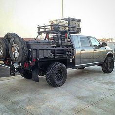 Really digging these full-size flatbed #overlander conversions. Tag owner- - - - #wytac #wyvernoutfitters #overland #overlanding #offroading #notallwhowanderarelost #GetLost #getoutside #getoutdoors #getoutstayout #bugout #4x4 #4wd #adventuremobile #survival #prepping #prepared #prepper #tactical #overlandgear #tacticalgear