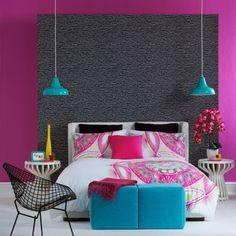 Modern girly bedroom.