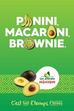 C'est tout l'temps l'temps pour manger des avocats! Essayez nos recettes santé et délicieuses. Fruit Parfait, Capsule Video, Avocados From Mexico, Valeur Nutritive, Brownie, Nutrition Tips, Birthday Parties, Ads, Recipes