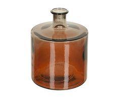 Vaso in vetro arancione Ted - 21x26 cm