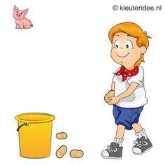 Spel 14: Aardappel werpen, speldag thema boerderij voor kleuters, kleuteridee.nl , farm games for preschool field day.
