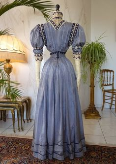 Extraordinary Reception Gown, ca. 1901